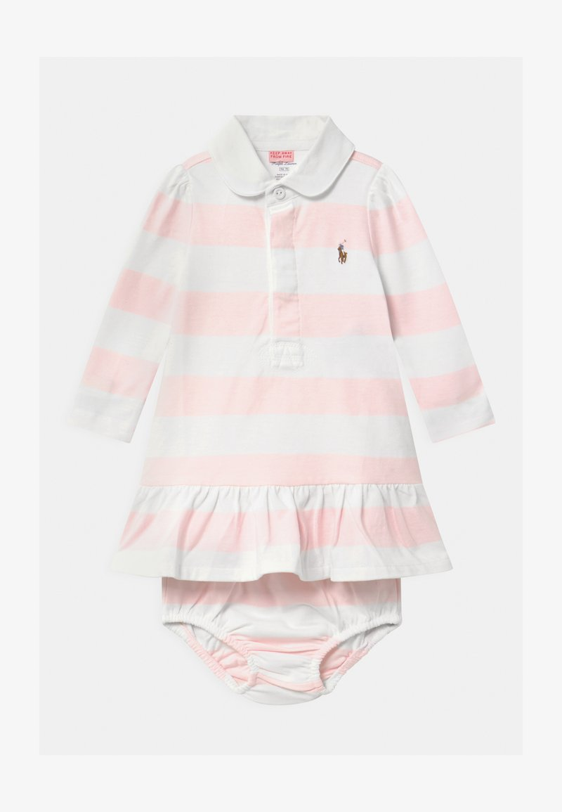 Polo Ralph Lauren - RUGBY SET - Robe en jersey - delicate pink/white
