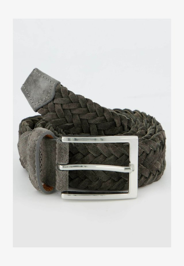 Braided belt - anthrazit