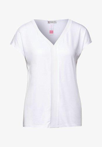 MIT V-AUSSCHNITT - Print T-shirt - weiß