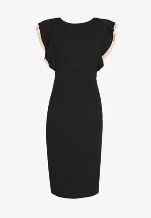 MIDI DRESS - Cocktail dress / Party dress - black/salmon