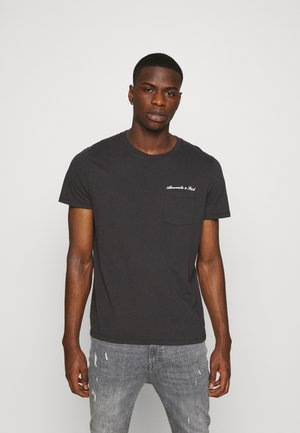 WASHED SCRIPT - Print T-shirt - black
