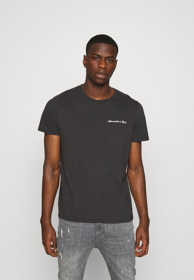 WASHED SCRIPT - T-shirt z nadrukiem - black