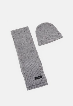 JACNAP BEANIE SCARF GIFTBOX SET - Bufanda - light grey melange