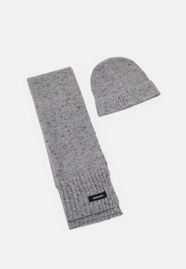 JACNAP BEANIE SCARF GIFTBOX SET - Scarf - light grey melange