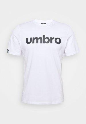 LINEAR LOGO GRAPHIC TEE - Print T-shirt - brilliant white