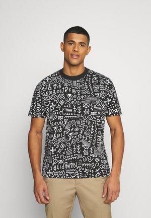 NOAIDE UNISEX - T-shirt med print - black