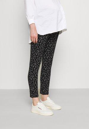 OSCAR - Trousers - black/off white dots