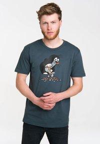 LOGOSHIRT - Print T-shirt - blau-schwarz - 2