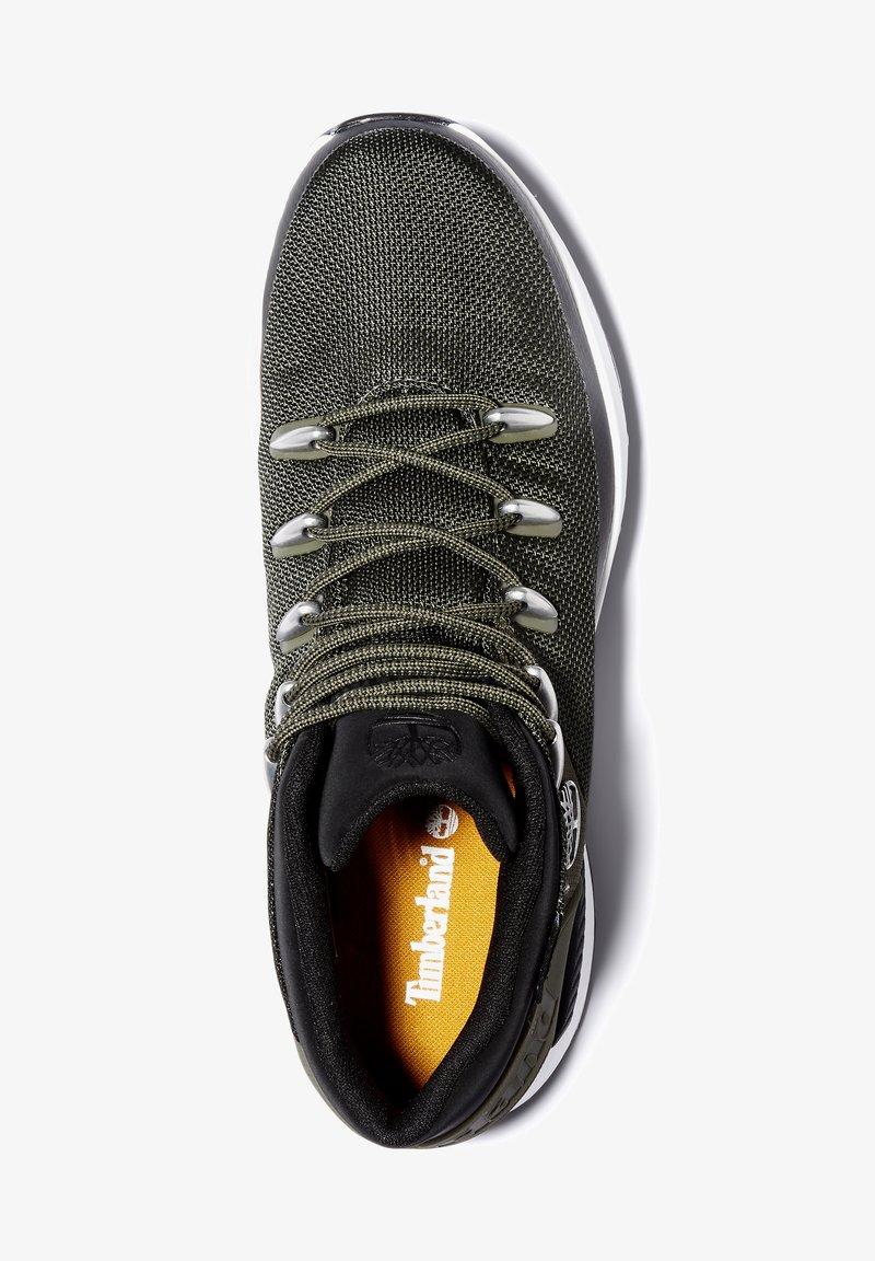 Timberland - SPRINT TREKKER MID FABRIC WP - Sneakersy niskie - dark green mesh