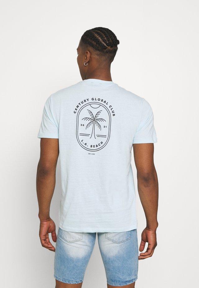 ONSPINE LIFE TEE - T-shirt print - blue glow