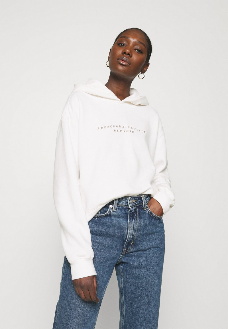 Abercrombie & Fitch - SEASONAL LOGO - Hoodie - white