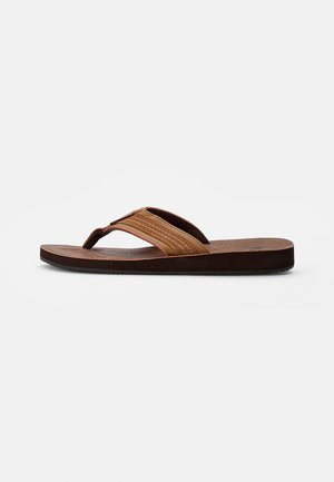 COMBO - T-bar sandals - tobacco brown