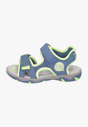 Walking sandals - blau/gelb