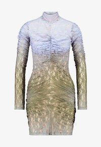 House of Holland - MUTED MINI DRESS - Shift dress - blue/khaki - 5