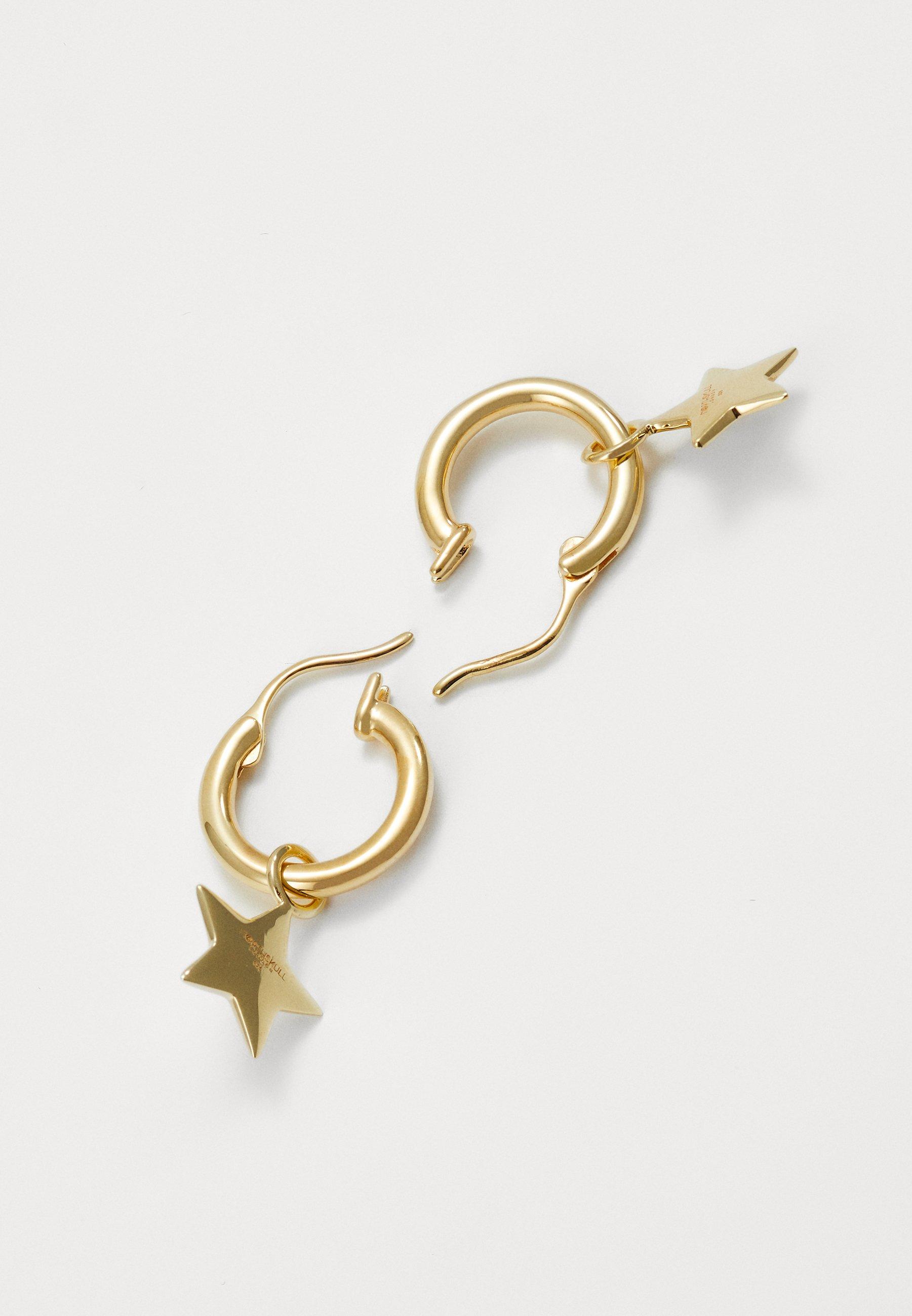 Northskull Logo Star Hoop Earringsin Gold - Ohrringe Gold-coloured/gold