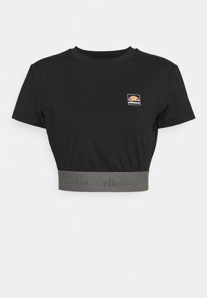 EMMI CROP TEE - Camiseta estampada - black