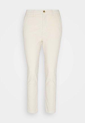 CIGARETTE CORDUROY PANTS - Trousers - soft creme beige