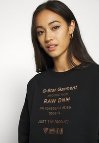 G-Star - GRAPHIC TEXT RELAXED - Sweater - black - 4