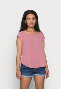 ONLY Petite - ONLVIC SOLID PETIT - Print T-shirt - mesa rose - 0