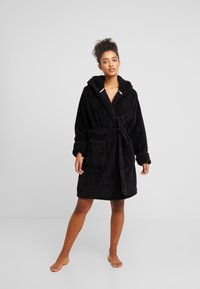 Cotton On Body - HOODED LUXE PLUSH GOWN - Morgonrock - black - 1
