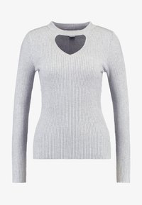 Lost Ink - FRONT CUT OUT - Svetr - grey - 3