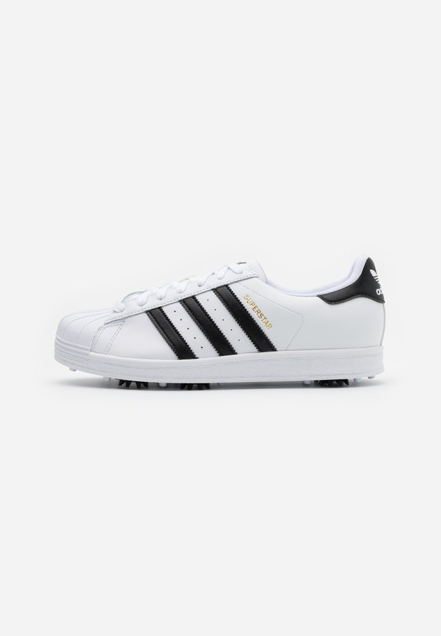 SUPERSTAR SPORTS - Golf shoes - footwear white/core black/gold metallic