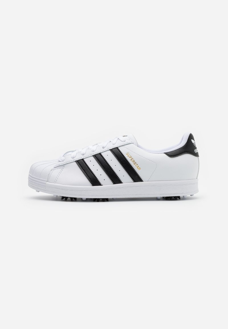adidas Golf - SUPERSTAR SPORTS - Golfové boty - footwear white/core black/gold metallic