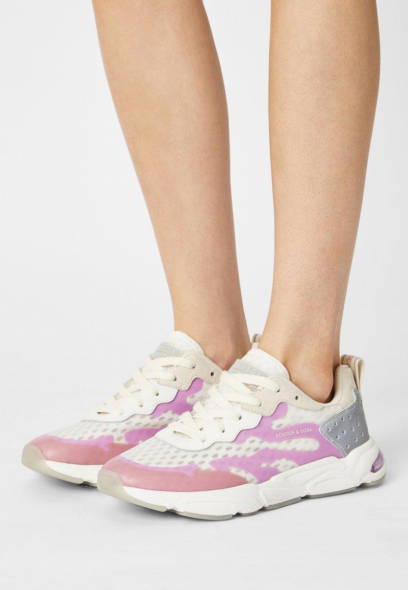 Scotch & Soda - LOU - Sneakers laag - white/purple