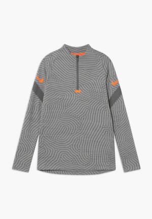 DRY STRIKE - T-shirt sportiva - smoke grey/heather/total orange