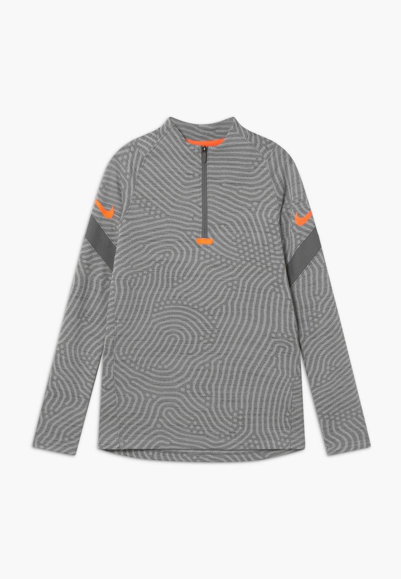Nike Performance - DRY STRIKE - Funkční triko - smoke grey/heather/total orange
