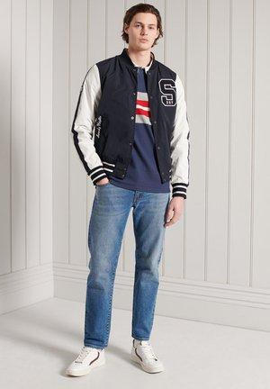 Polo shirt - lauren navy chest band stripe