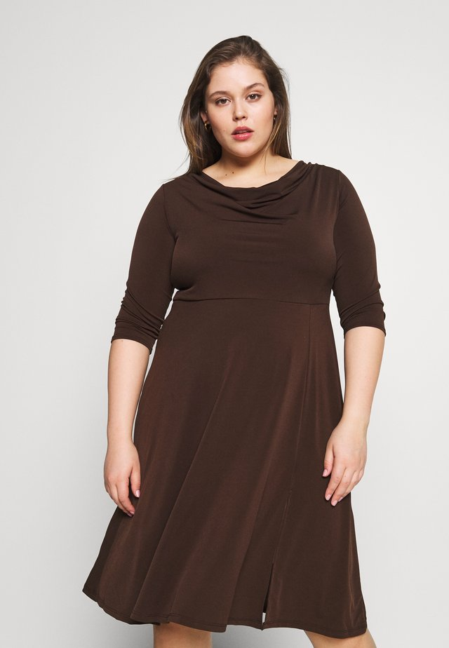 Robe en jersey - brown