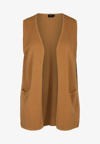 Zizzi - MIT TASCHEN - Waistcoat - brown - 3