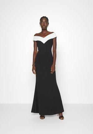 MYLO CONTRAST  - Jersey dress - black/white