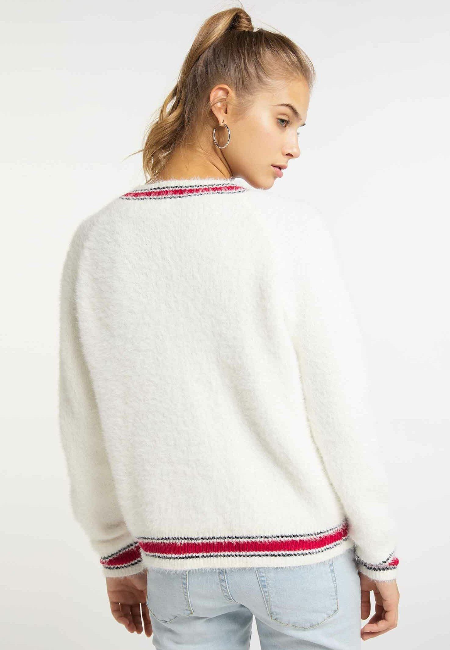 myMo Strickjacke wool white/weiß