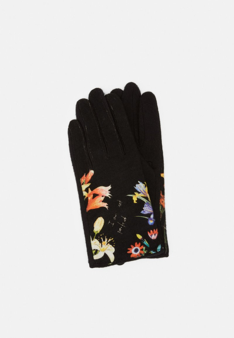 Desigual - GLOVES FLOWERISH - Rukavice - black
