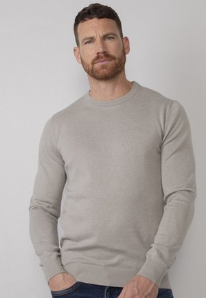 Stickad tröja - light grey melee