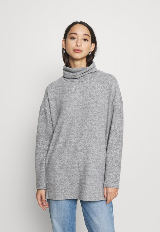 BELLA LONGLINE - Neule - light grey