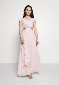 Dorothy Perkins - RILEY RUFFLE DETAIL SOFT SLEEVE MAXI DRESS - Společenské šaty - blush - 1
