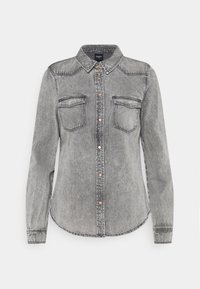 Vero Moda - VMMARIA SHIRT - Button-down blouse - black - 4