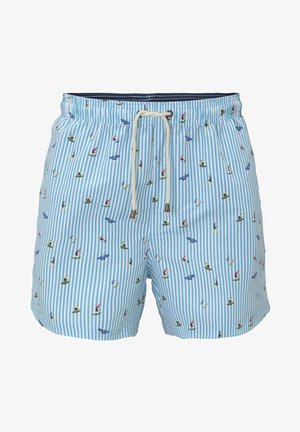 NIGHTWEAR GEMUSTERTE BADESHORTS - Pyjama bottoms - turquoise