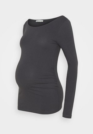 2 PACK - Long sleeved top - dark grey/white