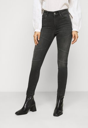 ONLBLUSH CUT LIFE MID - Jeans Skinny Fit - black denim