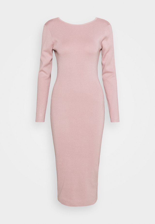 TIE BACK MIDAXI DRESS - Strickkleid - blush