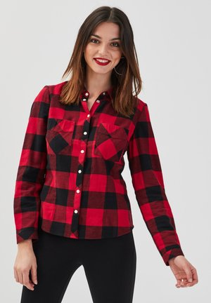 Button-down blouse - rouge