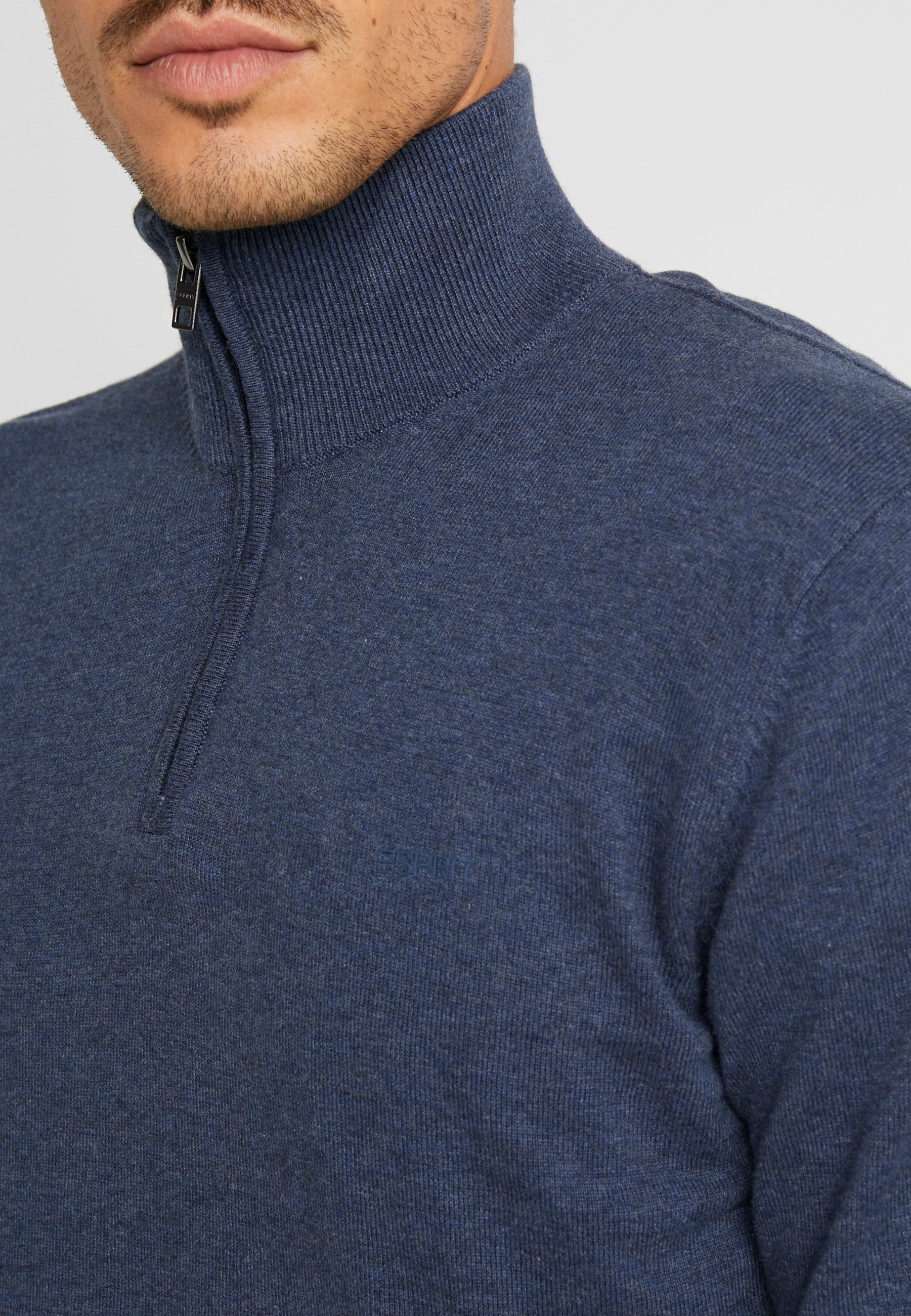 Esprit Half Zip - Strikkegenser Dark Blue/kongeblå