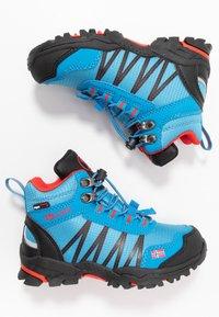 TrollKids - KIDS TROLLTUNGA MID UNISEX - Hiking shoes - medium blue/red - 0
