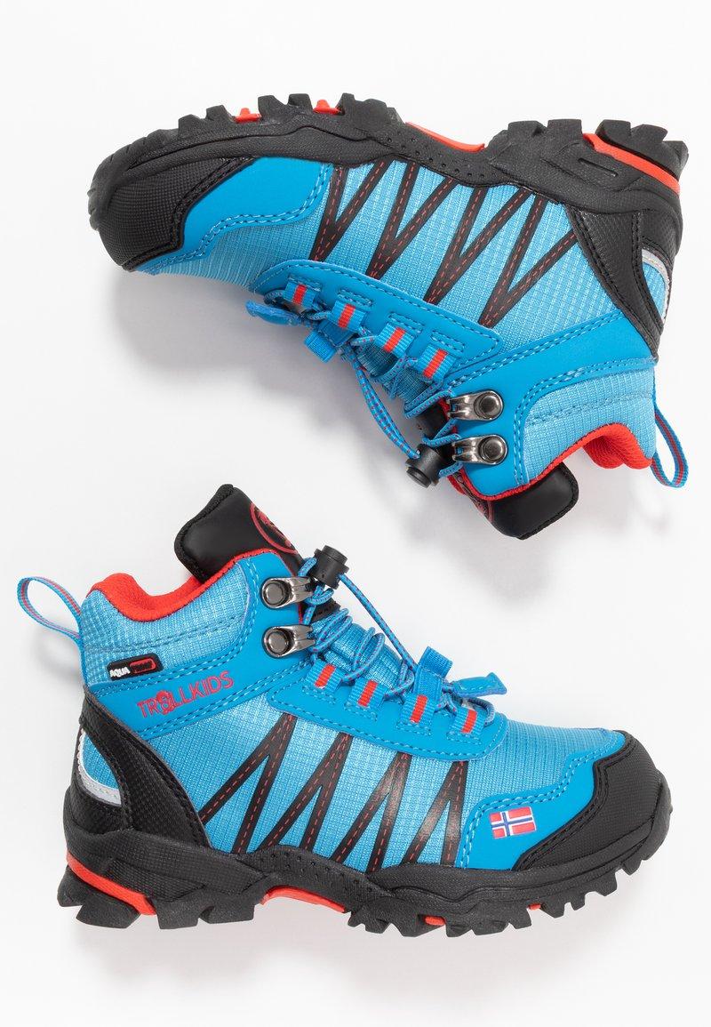 TrollKids - KIDS TROLLTUNGA MID UNISEX - Hiking shoes - medium blue/red