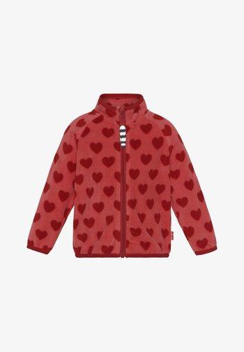 ALMA HEART - Fleece jacket - coral samba