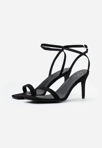 Missguided - BARELY THERE - High heeled sandals - black - 1